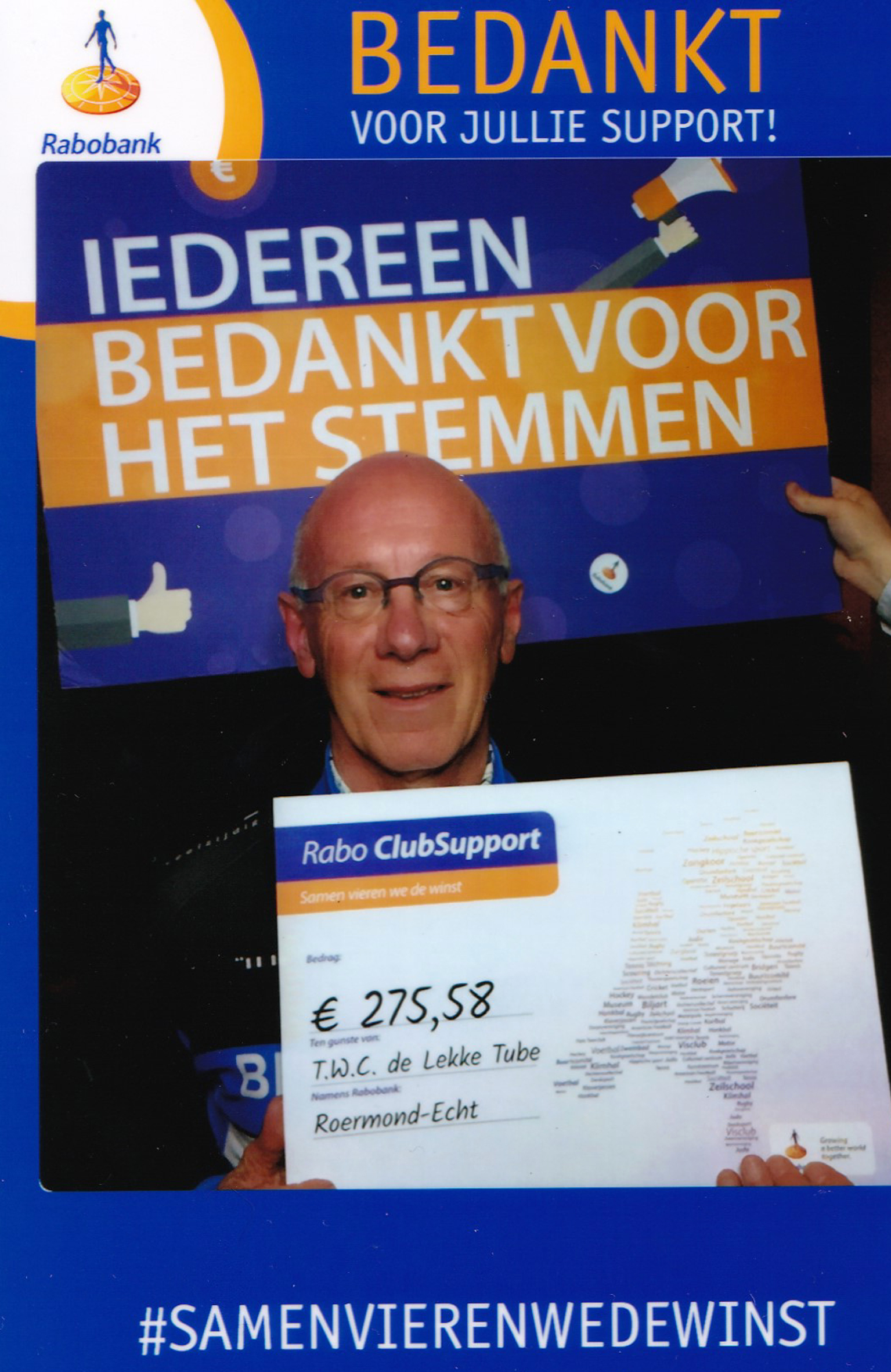 Rabobank Clubkas Campagne 2019 TWC De Lekke Tube